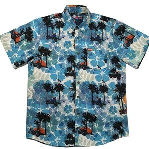 Dixxon Aloha Series LG Tropical Sunset Motorcycle Short Sleeve Button Up Shirt